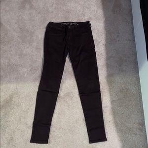 American Eagle burgundy skinny jeans (regular cut